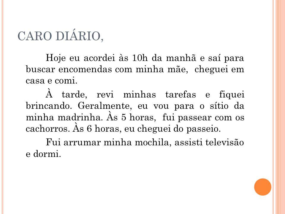 CARO DIÁRIO,