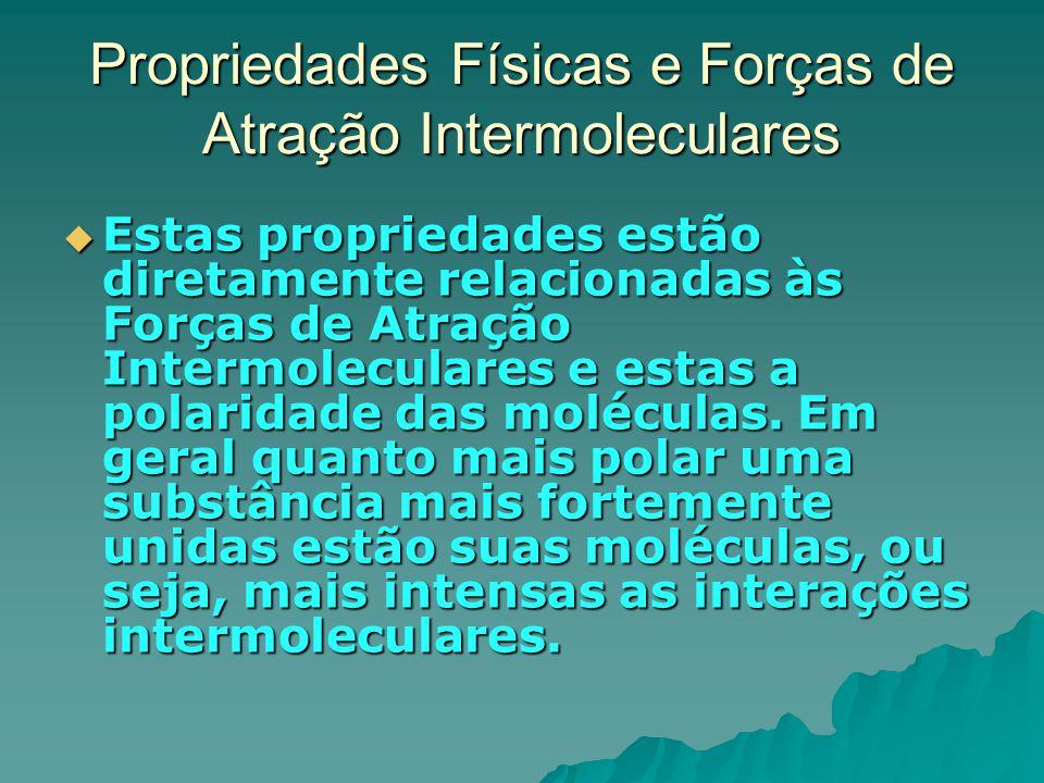 Propriedades Físicas e Forças de Atração Intermoleculares