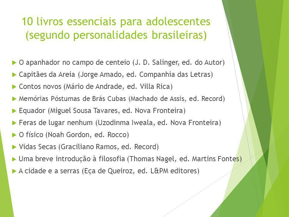 10 livros essenciais para adolescentes (segundo personalidades brasileiras)
