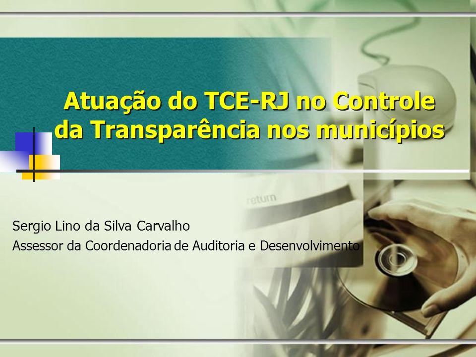 Atuação do TCE-RJ no Controle da Transparência nos municípios
