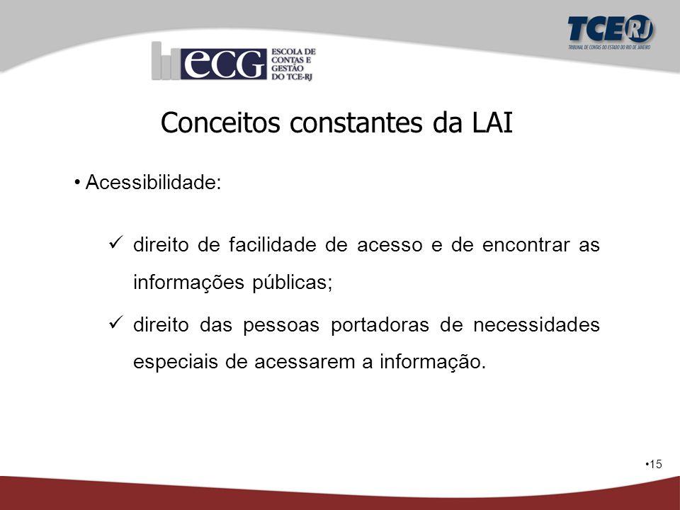 Conceitos constantes da LAI