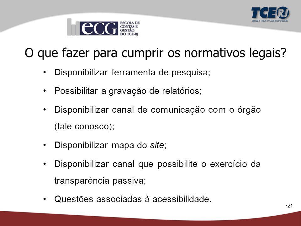 O que fazer para cumprir os normativos legais