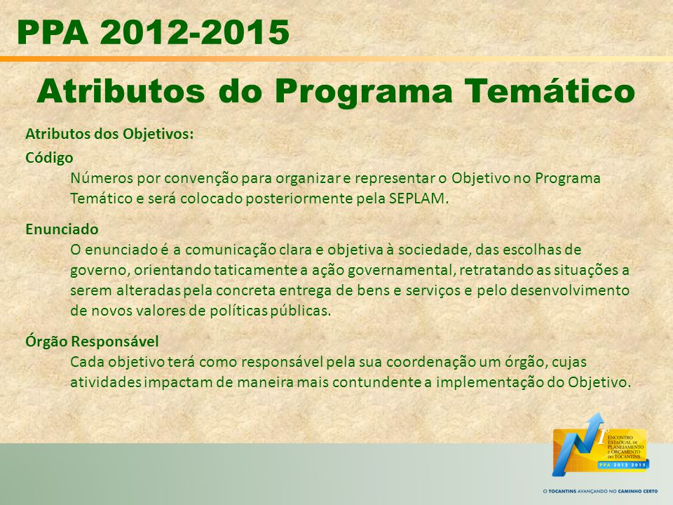 Atributos do Programa Temático