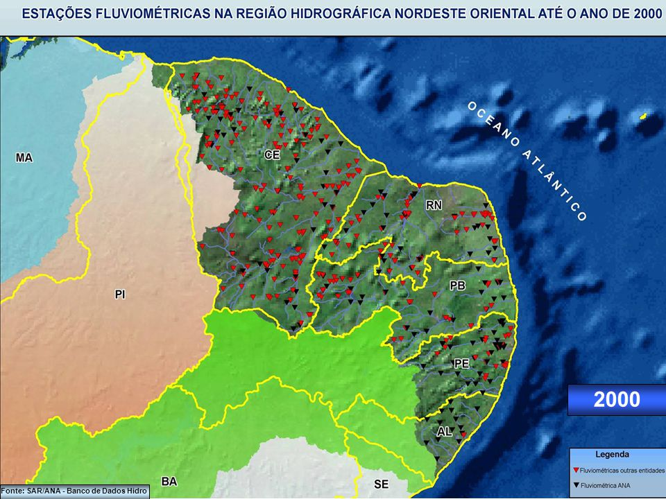 Fonte: SAR/ANA - Banco de Dados Hidro