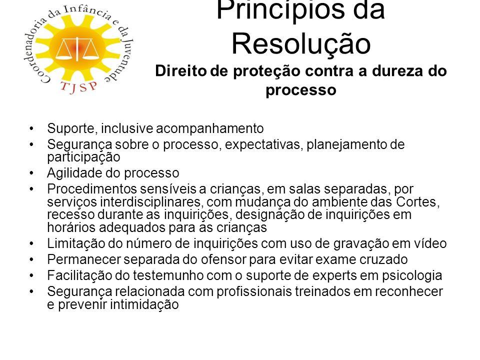 Princípios da Resolução Direito de proteção contra a dureza do processo