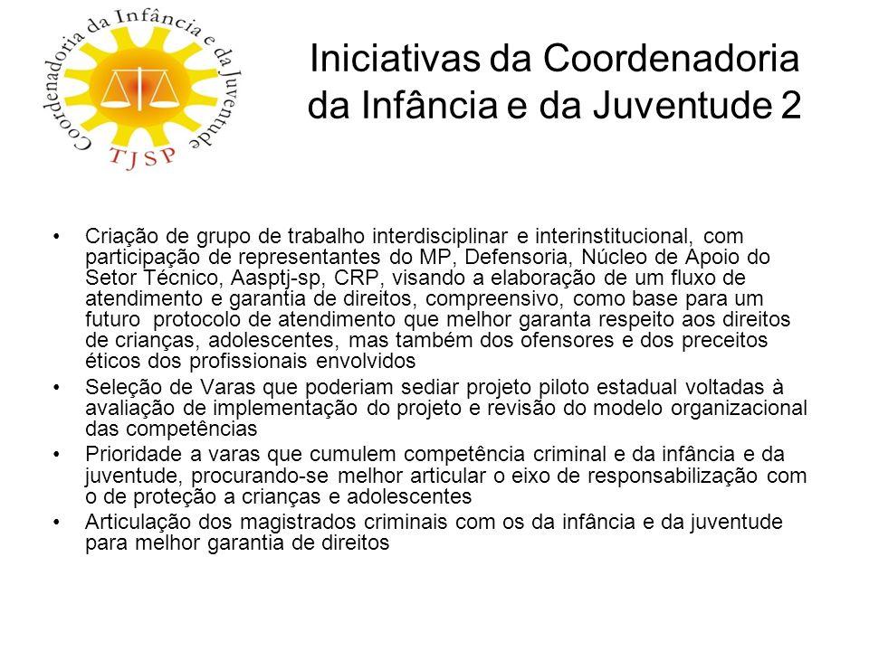 Iniciativas da Coordenadoria da Infância e da Juventude 2