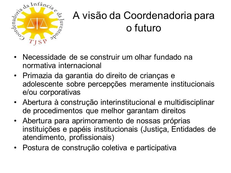 A visão da Coordenadoria para o futuro