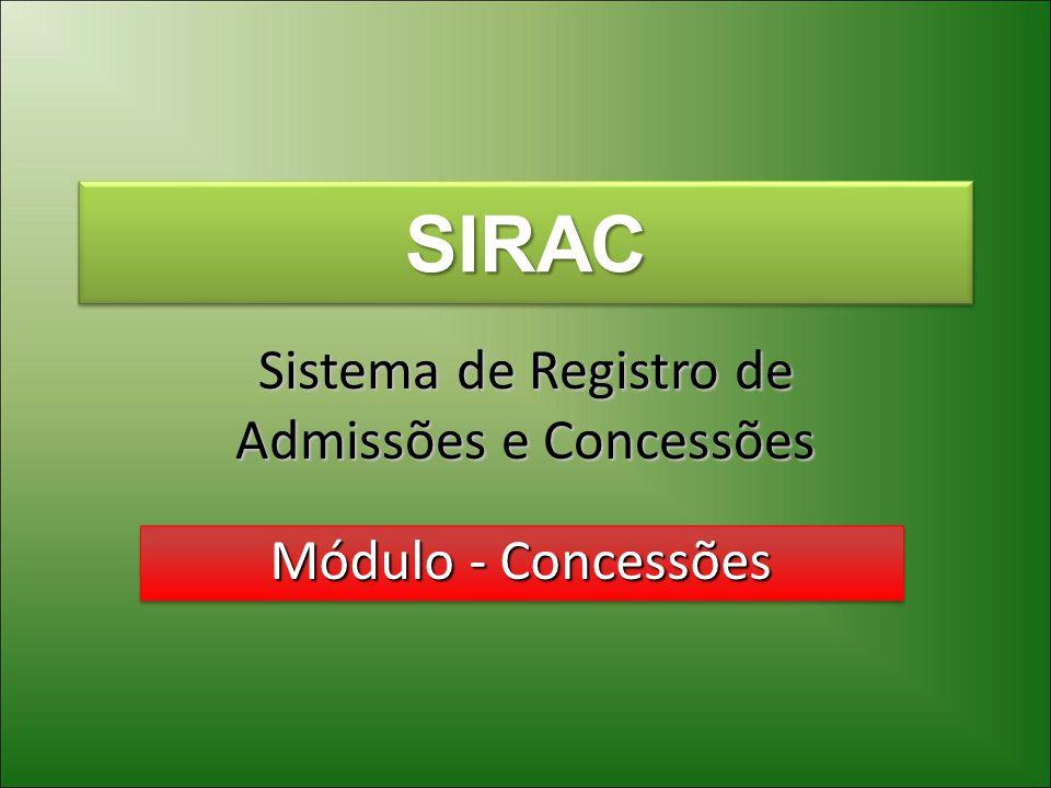 Sistema de Registro de Admissões e Concessões