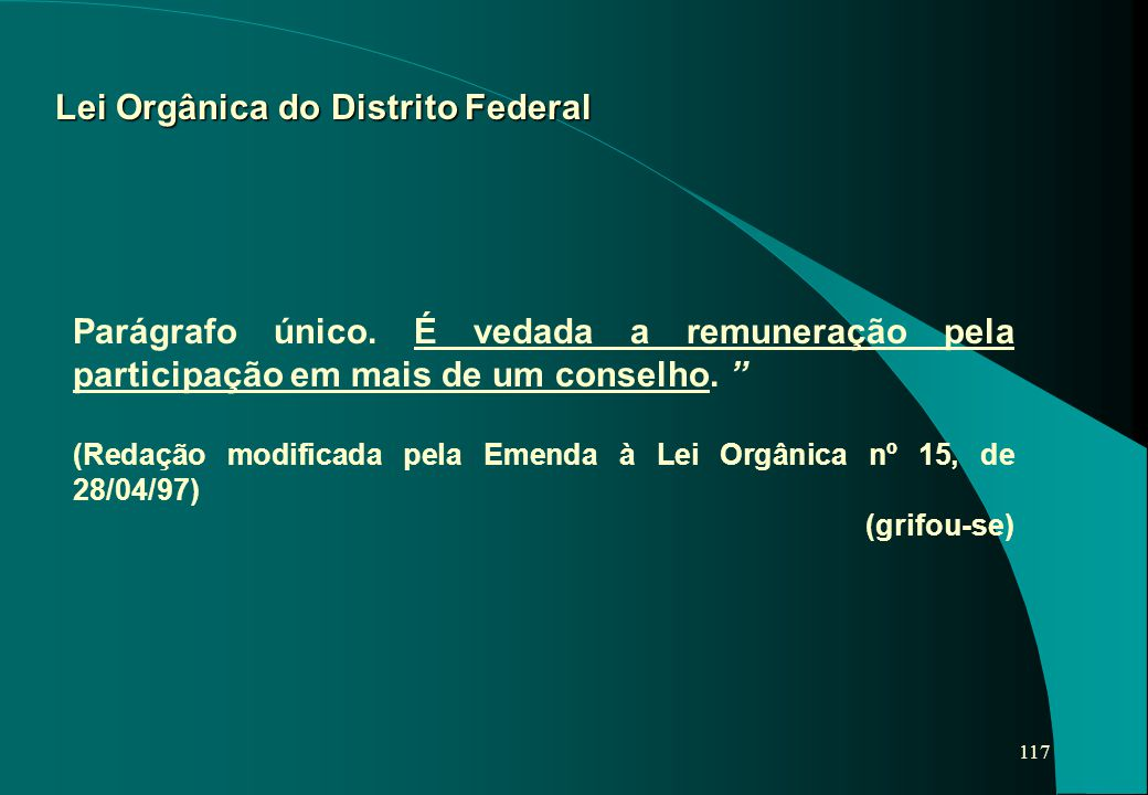 Lei Orgânica do Distrito Federal