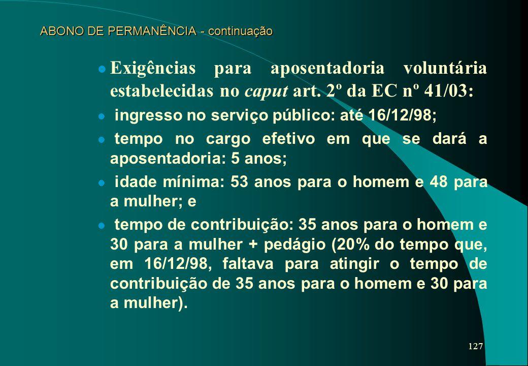 ABONO DE PERMANÊNCIA - continuação