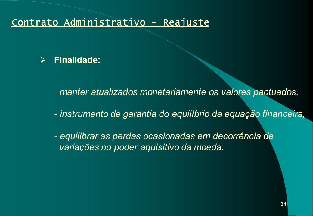 Contrato Administrativo – Reajuste