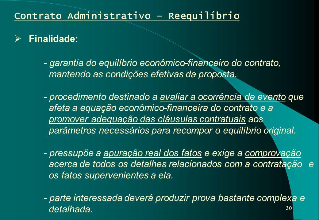 Contrato Administrativo – Reequilíbrio
