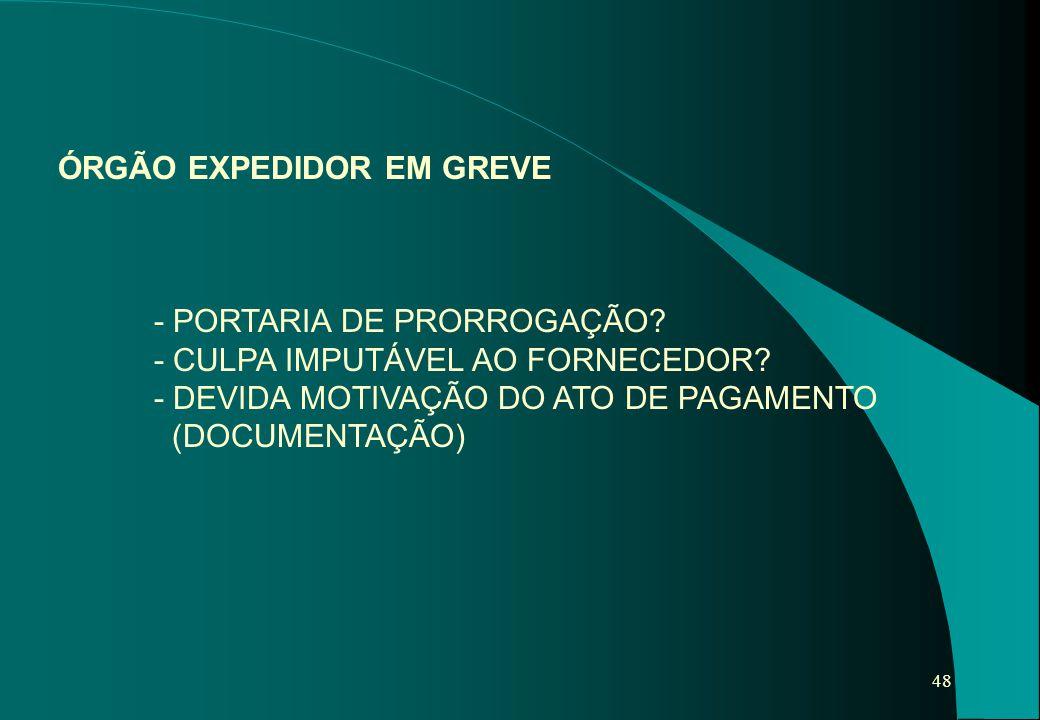 ÓRGÃO EXPEDIDOR EM GREVE