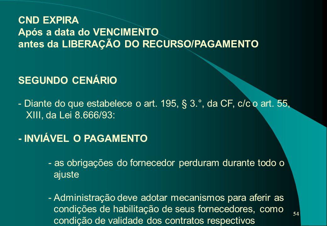 Após a data do VENCIMENTO antes da LIBERAÇÃO DO RECURSO/PAGAMENTO