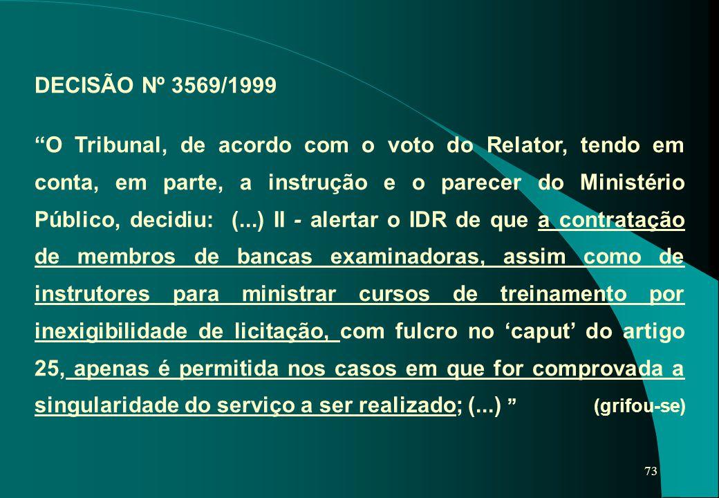DECISÃO Nº 3569/1999