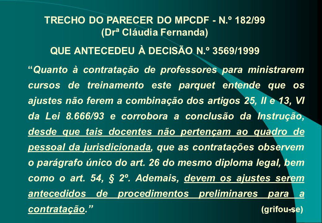 TRECHO DO PARECER DO MPCDF - N
