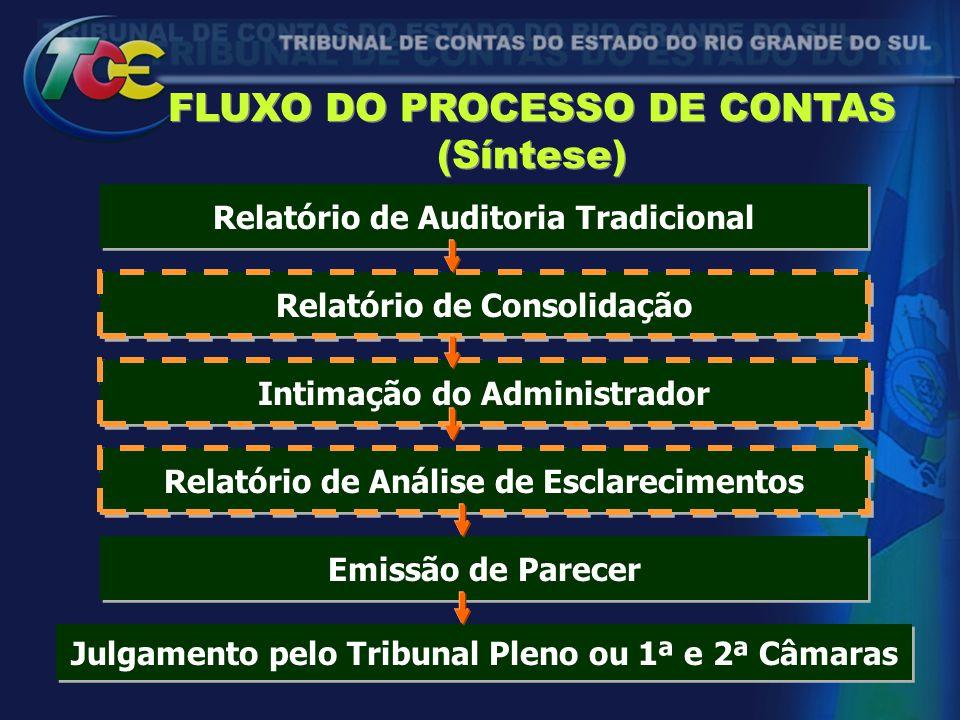 FLUXO DO PROCESSO DE CONTAS (Síntese)