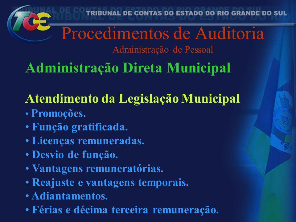 Procedimentos de Auditoria Administração de Pessoal