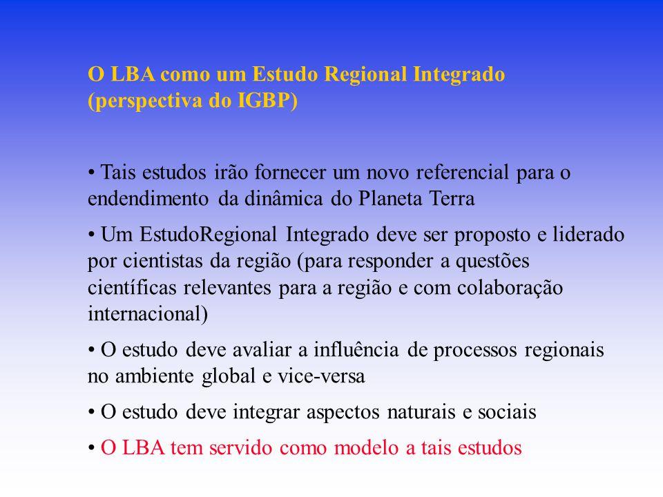 O LBA como um Estudo Regional Integrado (perspectiva do IGBP)