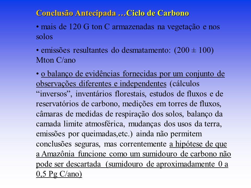 Conclusão Antecipada …Ciclo de Carbono