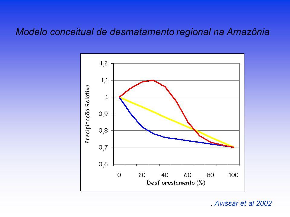 Modelo conceitual de desmatamento regional na Amazônia