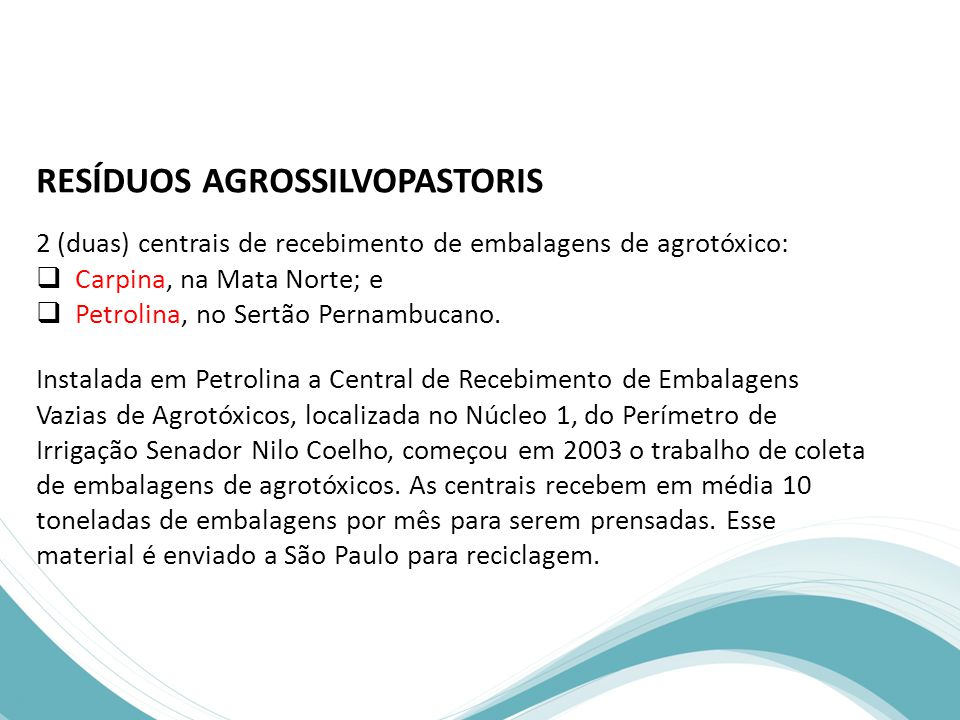 RESÍDUOS AGROSSILVOPASTORIS