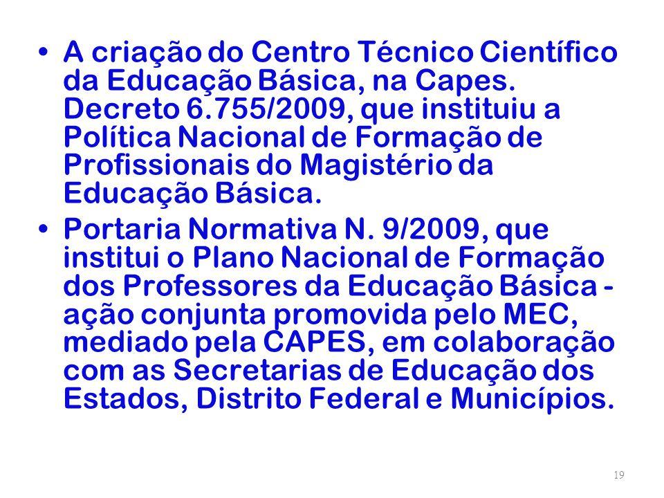 A criação do Centro Técnico Científico da Educação Básica, na Capes