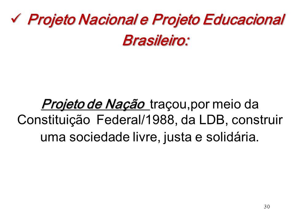 Projeto Nacional e Projeto Educacional Brasileiro:
