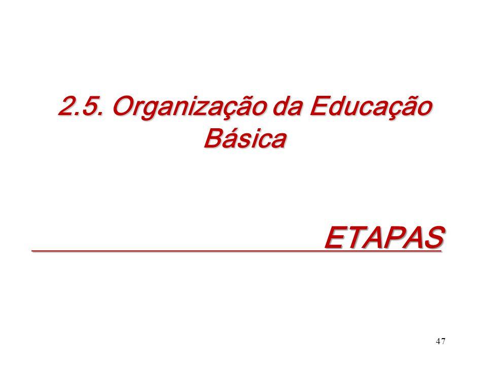 2.5. Organização da Educação Básica