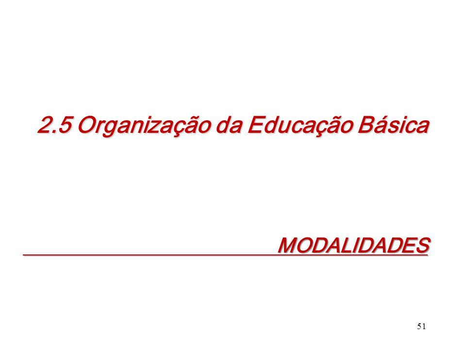 2.5 Organização da Educação Básica