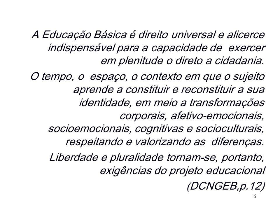 A Educação Básica é direito universal e alicerce indispensável para a capacidade de exercer em plenitude o direto a cidadania.