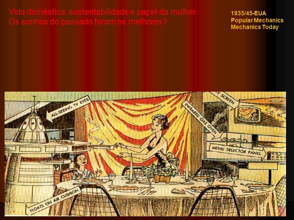 Vida doméstica, sustentabilidade e papel da mulher.
