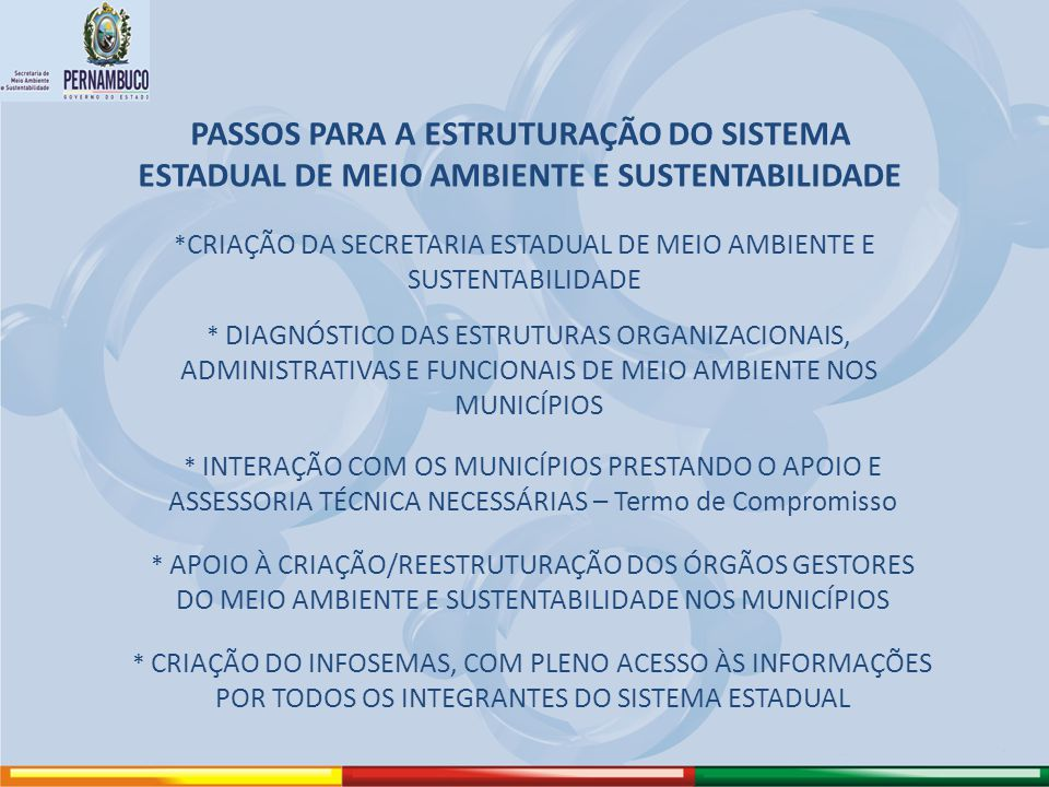 *CRIAÇÃO DA SECRETARIA ESTADUAL DE MEIO AMBIENTE E SUSTENTABILIDADE