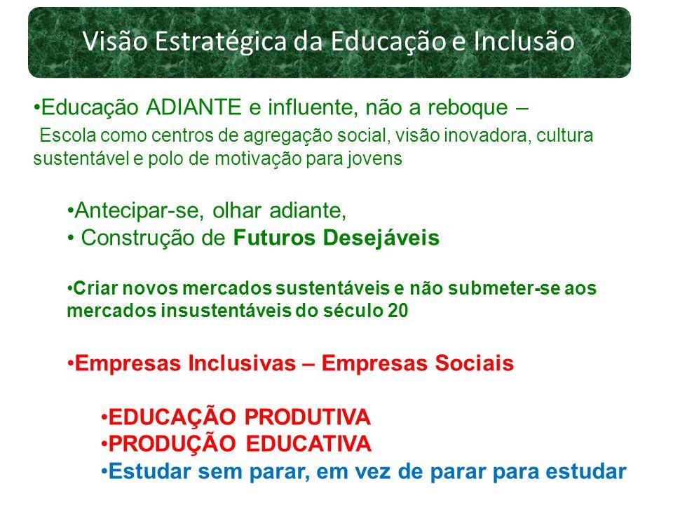 Visão Estratégica da Educação e Inclusão