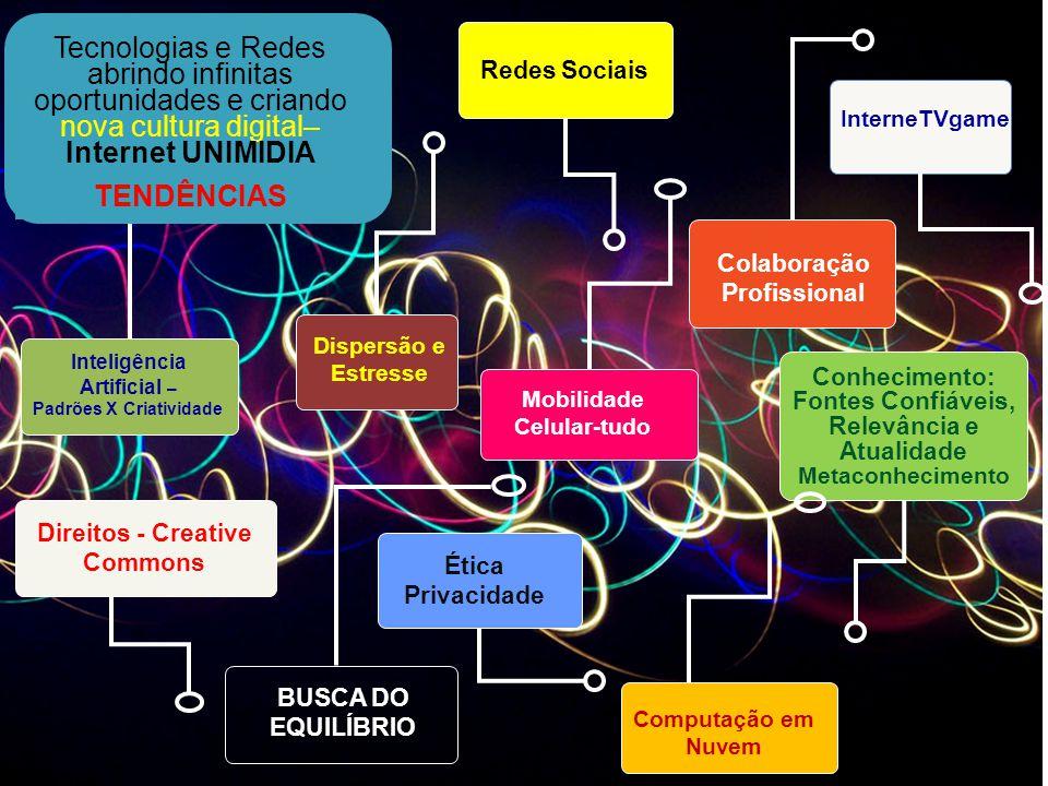 Tecnologias e Redes abrindo infinitas oportunidades e criando nova cultura digital– Internet UNIMIDIA