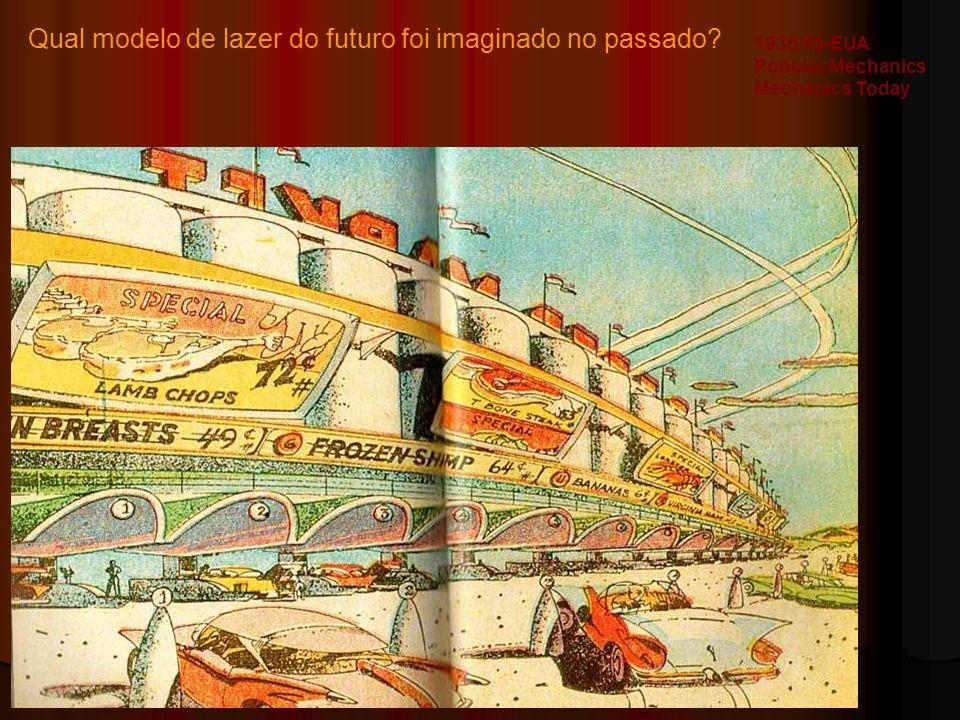 Qual modelo de lazer do futuro foi imaginado no passado