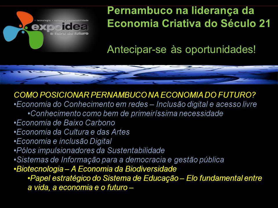 Pernambuco na liderança da Economia Criativa do Século 21