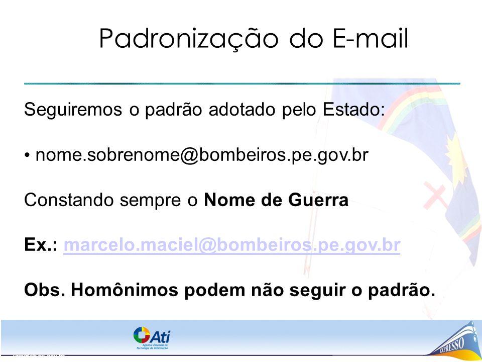 Padronização do E-mail