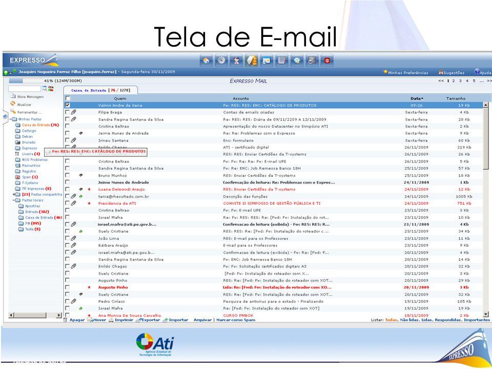 Tela de E-mail upp@ati.pe.gov.br