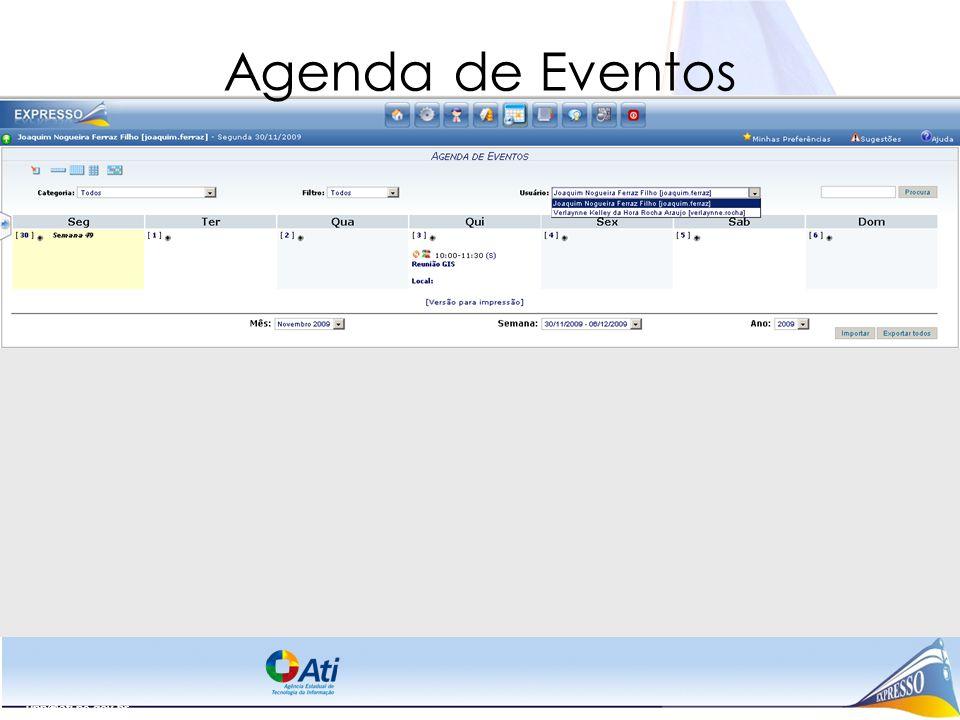 Agenda de Eventos upp@ati.pe.gov.br