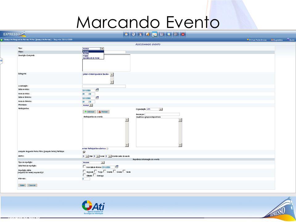 Marcando Evento upp@ati.pe.gov.br
