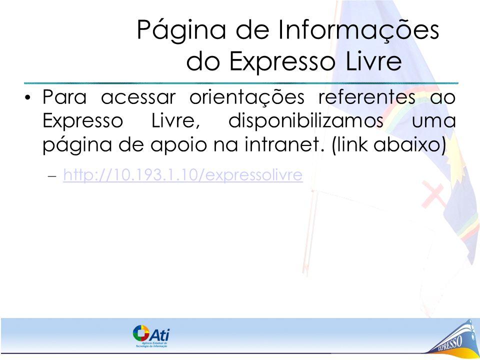 Página de Informações do Expresso Livre