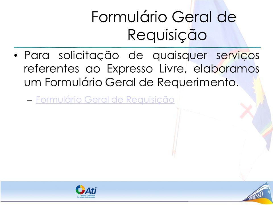 Formulário Geral de Requisição