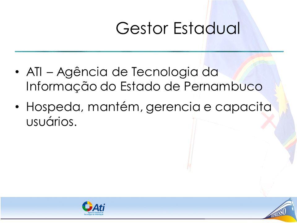 Gestor Estadual ATI – Agência de Tecnologia da Informação do Estado de Pernambuco.