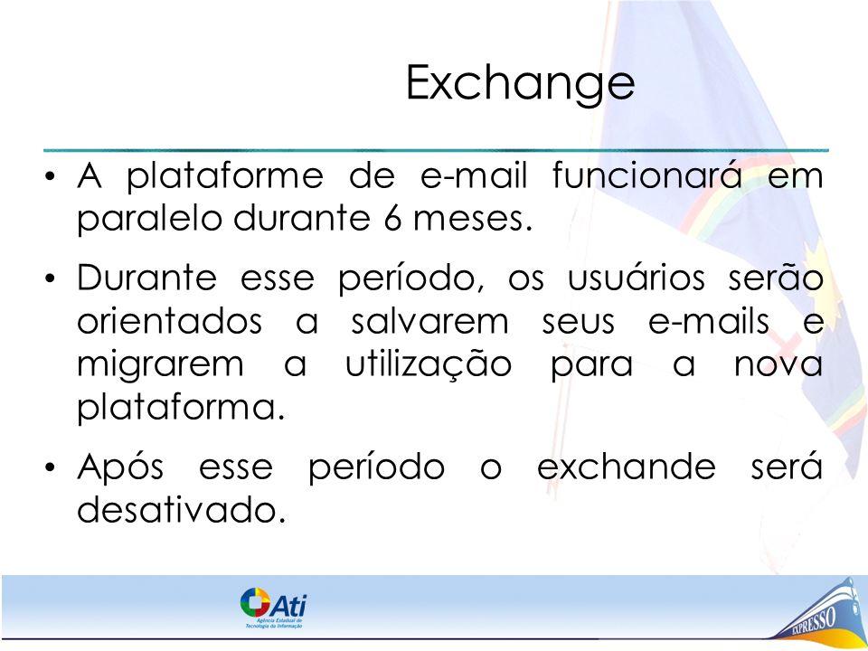 Exchange A plataforme de e-mail funcionará em paralelo durante 6 meses.