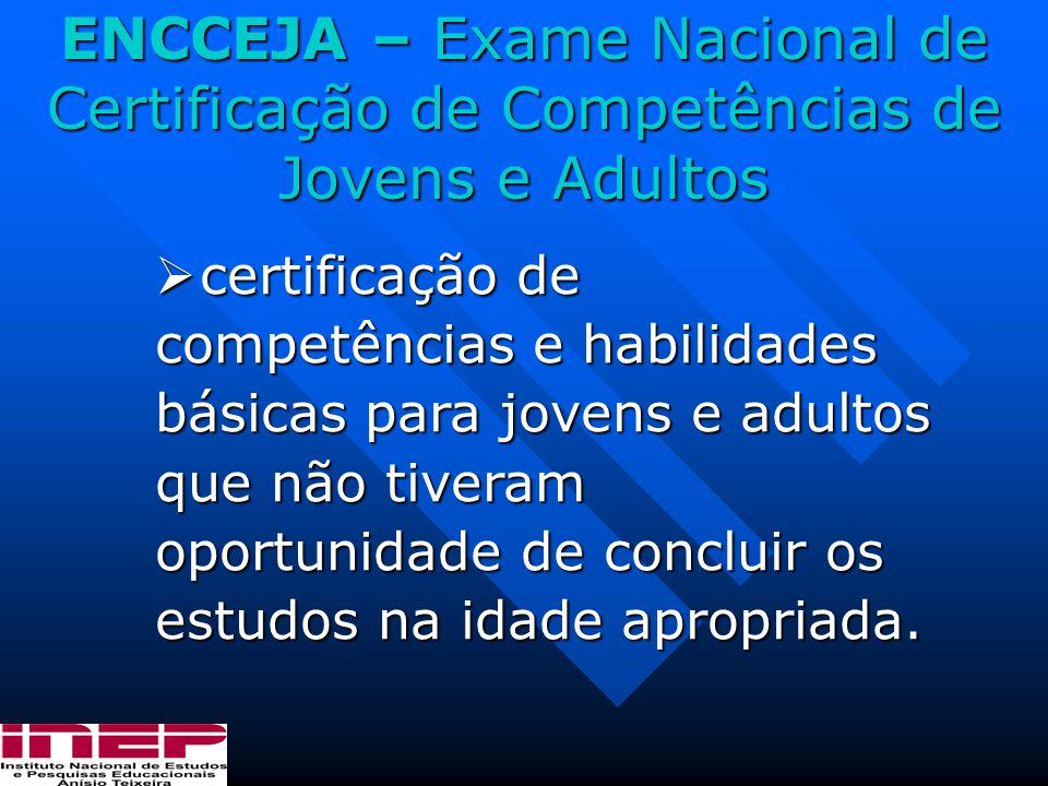 ENCCEJA – Exame Nacional de Certificação de Competências de Jovens e Adultos