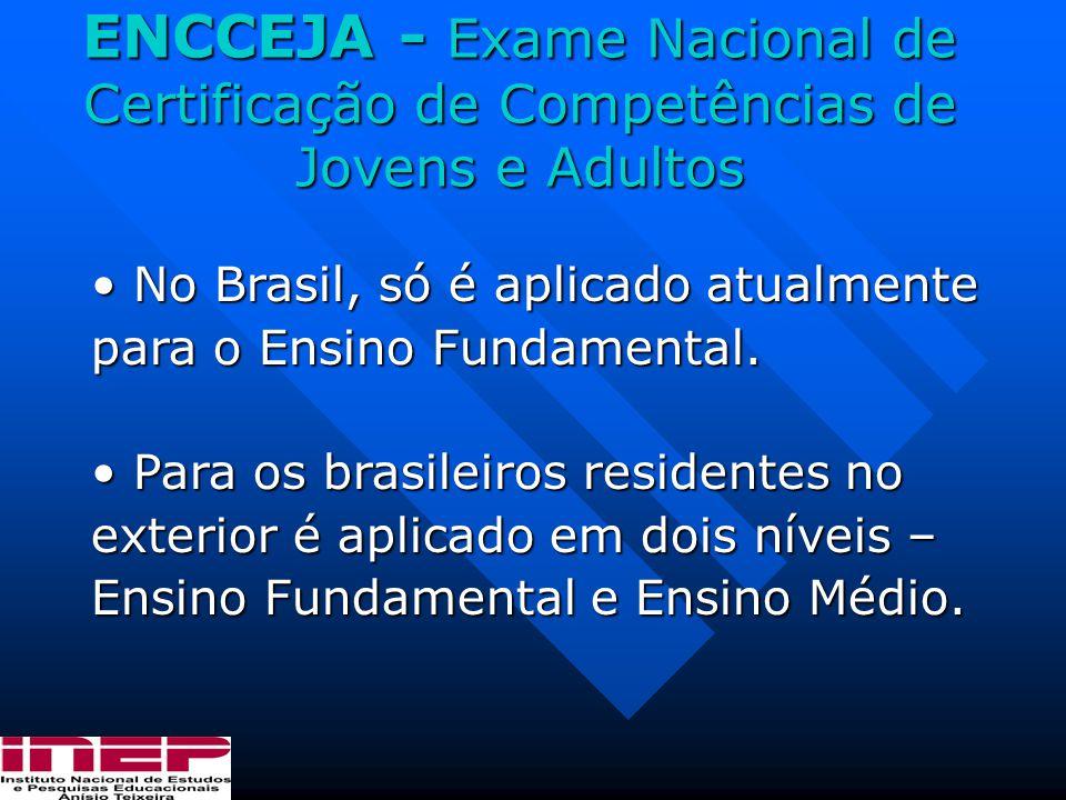 ENCCEJA - Exame Nacional de Certificação de Competências de Jovens e Adultos