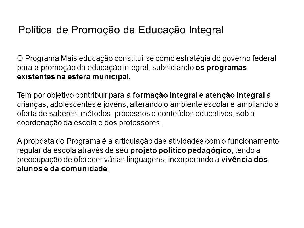 Política de Promoção da Educação Integral