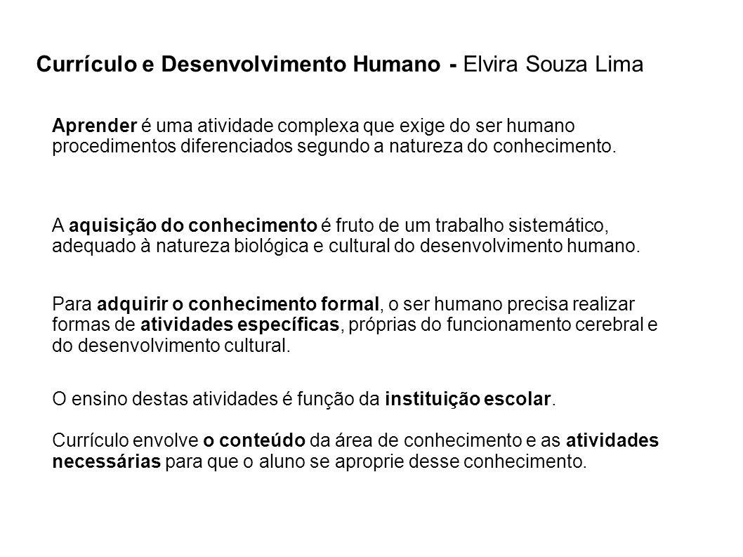 Currículo e Desenvolvimento Humano - Elvira Souza Lima