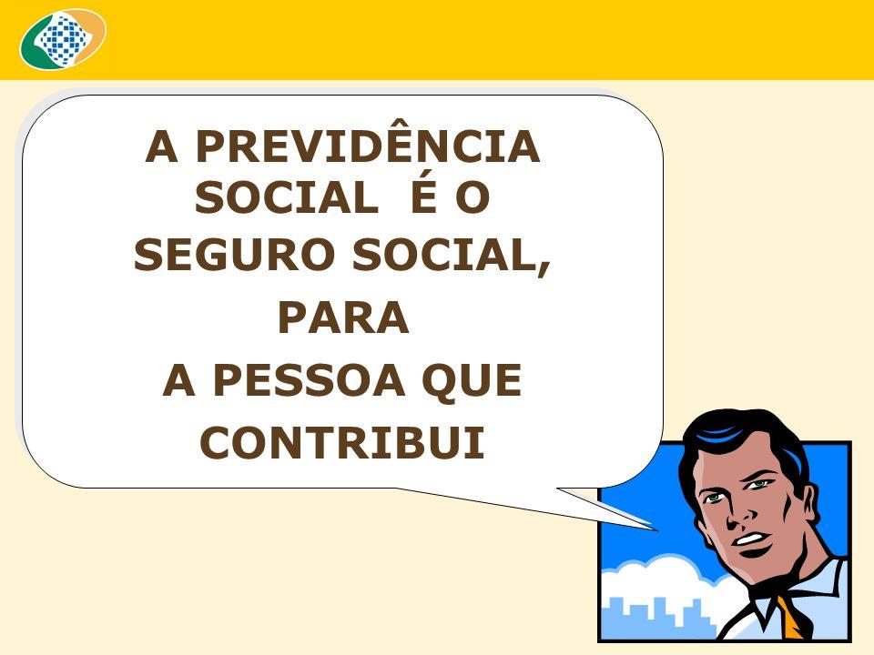 A PREVIDÊNCIA SOCIAL É O